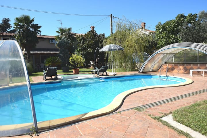 Beautiful family holiday home with private pool and great outdoor living space.