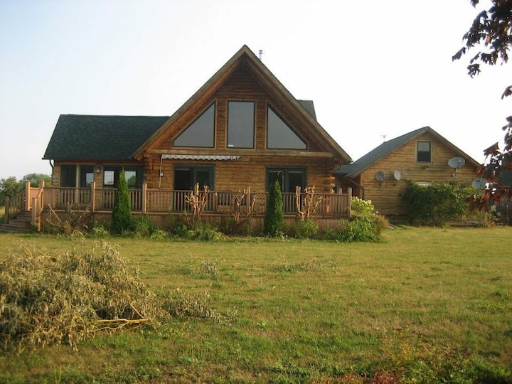 Log Home on 33 acre estate