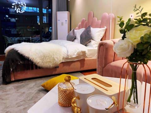 【 Style • Cat's nest 】 Heating Near Wanda Taihua Business Area Net Red Light String 23cm Mattress Outdoor Balcony Nordic Light Luxury Style
