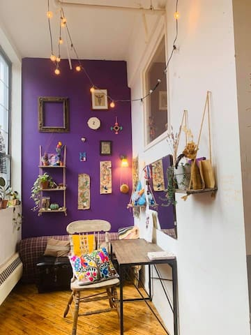 Purple Room in Artist + Activist Loft