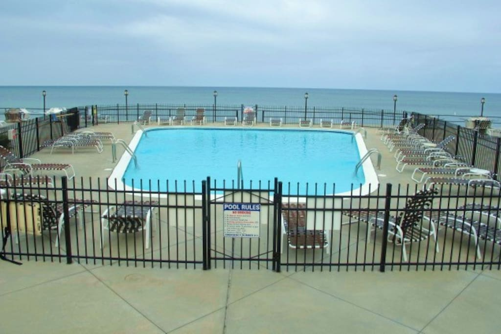 Lake Michigan's premier 2 BR Corner Top floor unit with private pool & unbeatable coastline views!!