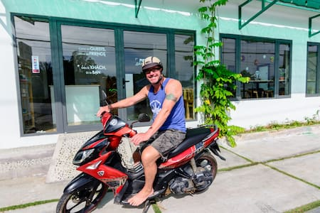 Wanderlust Stay&Cafe Near Sao Beach, Garden View