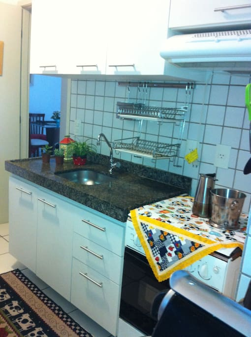 Cozinha onde preparamos nossa alimentação, as gostosuras da nossa terrinha