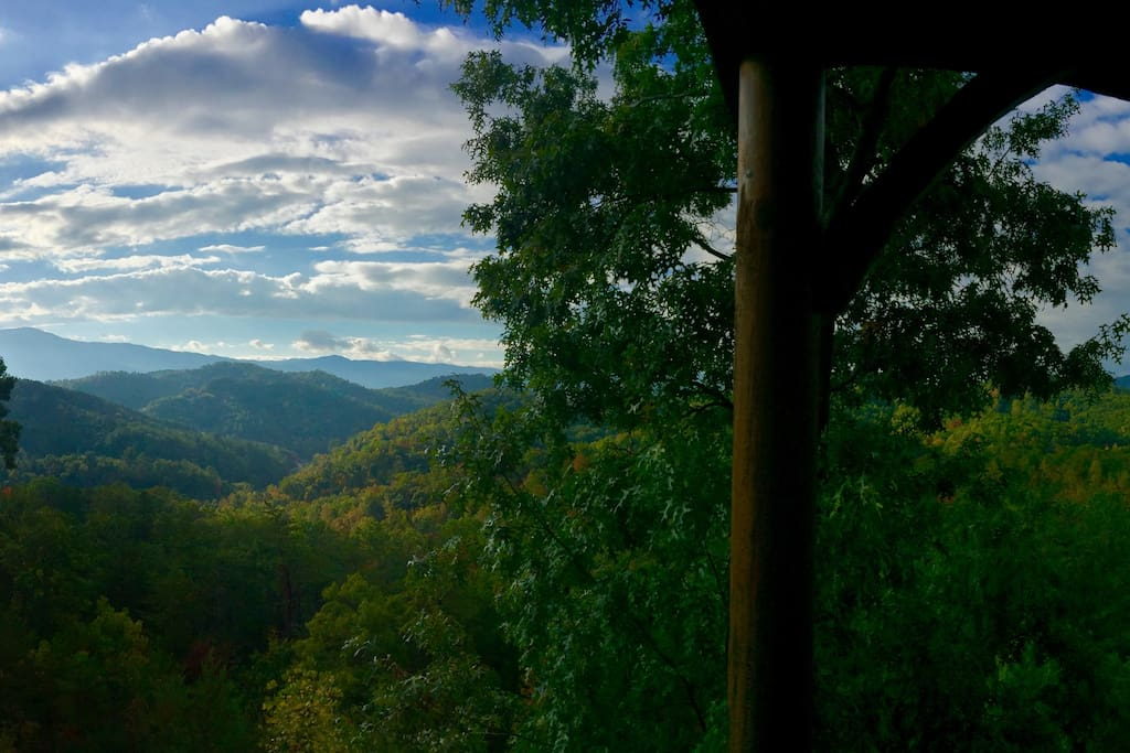 From our deck:  Late October View of the Smoky Mountains.