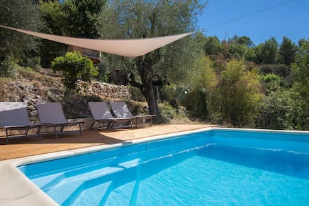 Panorama & Pool - Inland from Nice - Tourrettes-sur-Loup - 公寓