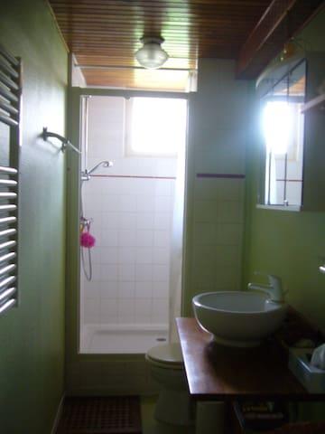 toilettes avec douche
