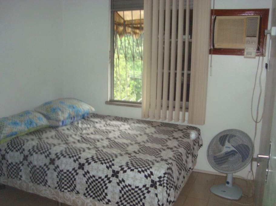 Bedroom with double bed, stereo, desktop pc, internet, hammock and air conditioning