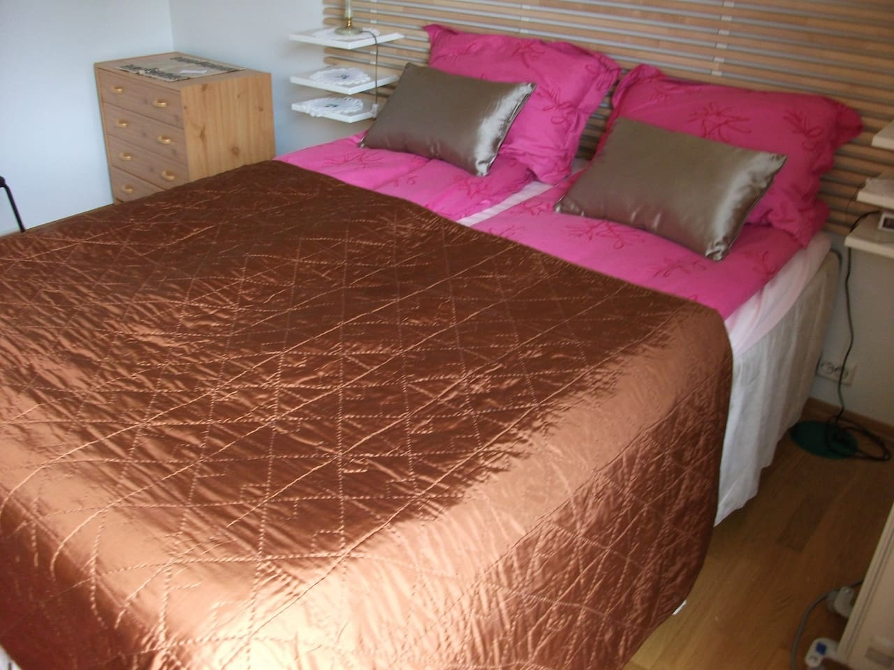 Your double bed room 12,5 square m ,brand quality , comfortable