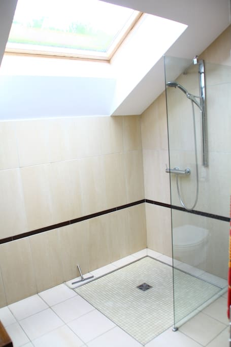 La salle de bain (avec toilettes) qui sera la votre le temps de votre séjour (nous en utiliserons une autre)