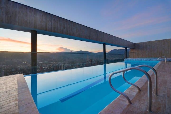 ★1701★Coolest building Medellin★Rooftop Pool/Spa!★