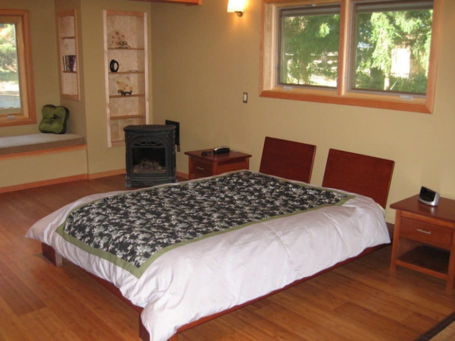 Beautifully decorated master suite