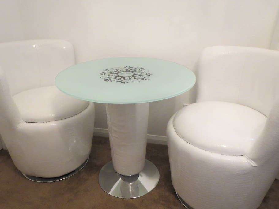 Table & Two Rotating Chairs
