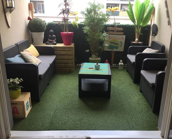 • T2 cosy (4pers) PARKING Terrasse vélodrome CLIM