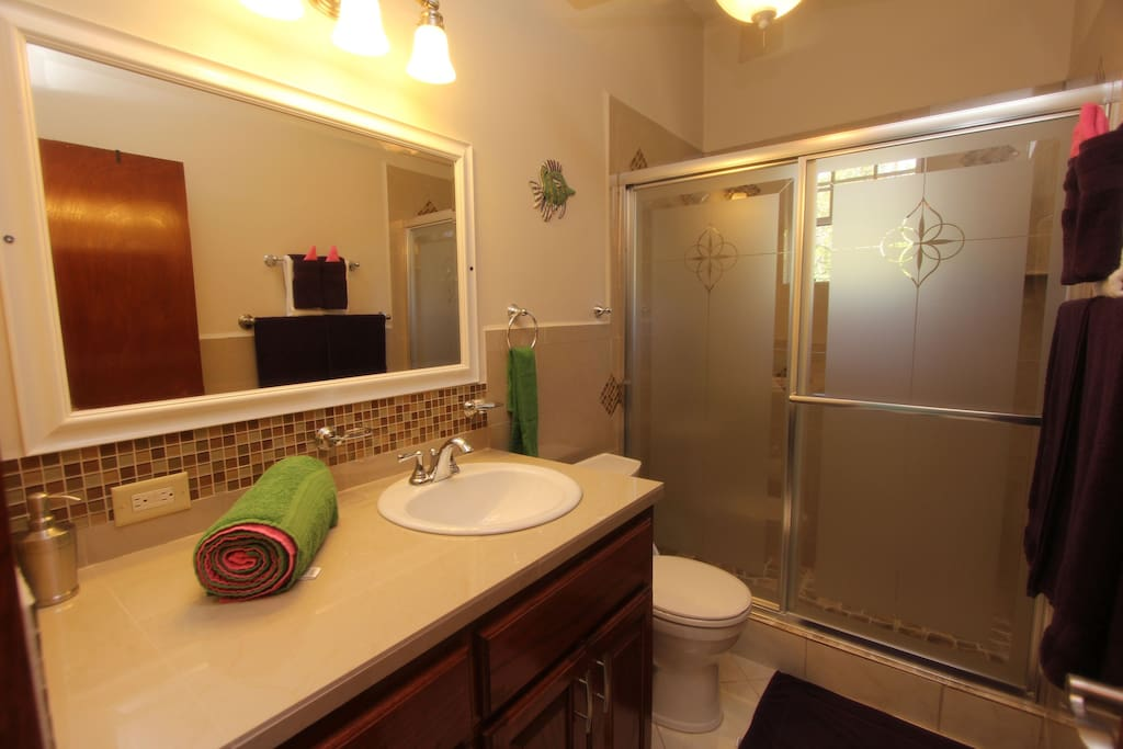 The guest bathroom for the two bedroom.