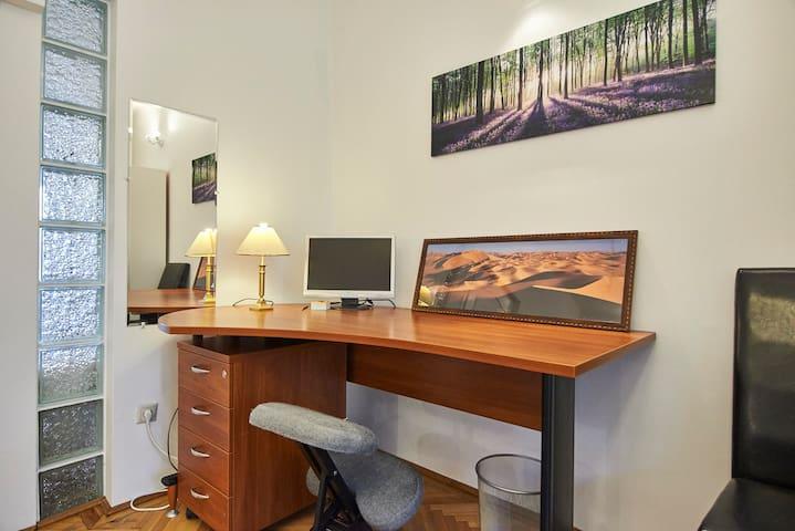 bedroom office corner