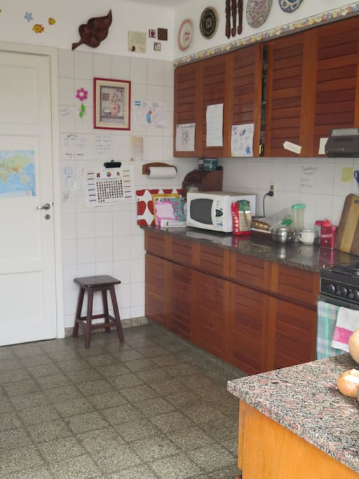 Guests are welcome to use the kitchen. Free tea, coffee and toast for breakfast
