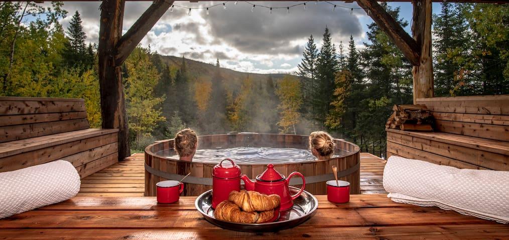 Kanawata-Chalets Spa Canada- spa sauna billard ++