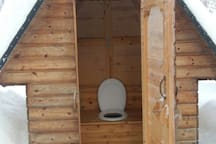 Fun ecological outside toilet in Finnish style.