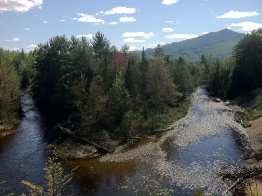 View of Schroon River and Nippletop from Backyard