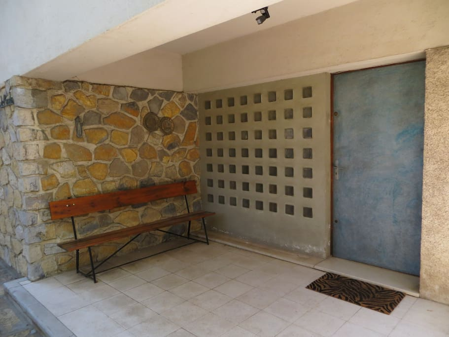 local stone entryway