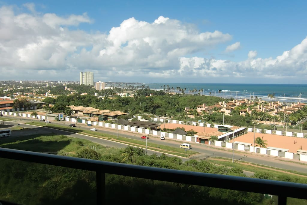 From the balcony view of Itapuan beach