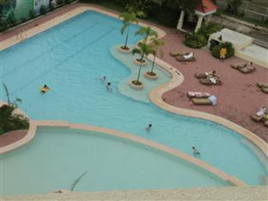 View of pool from 8th floor