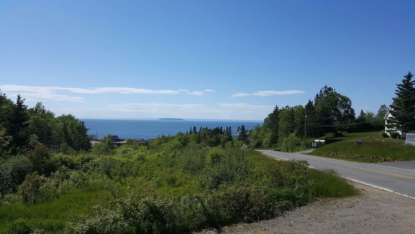 View of the Bay of Fundy from the balcony