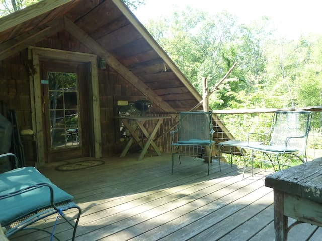 The deck is perfect for hanging about and star gazing.
