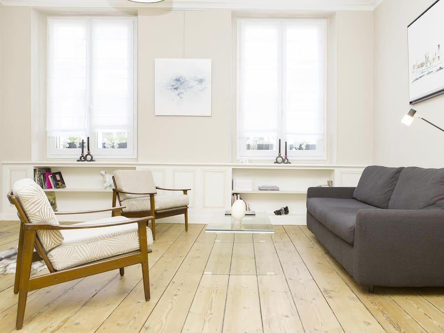 Luxueux appartement 93m2 bordeaux centre appartements for Location appartement bordeaux centre week end