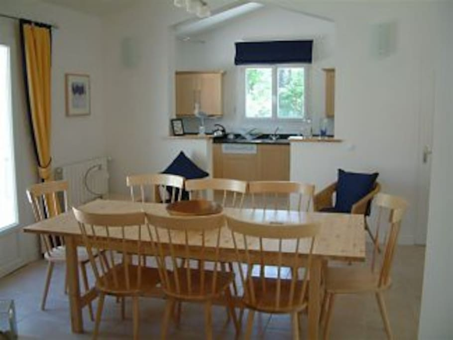 Large dining space seating 10