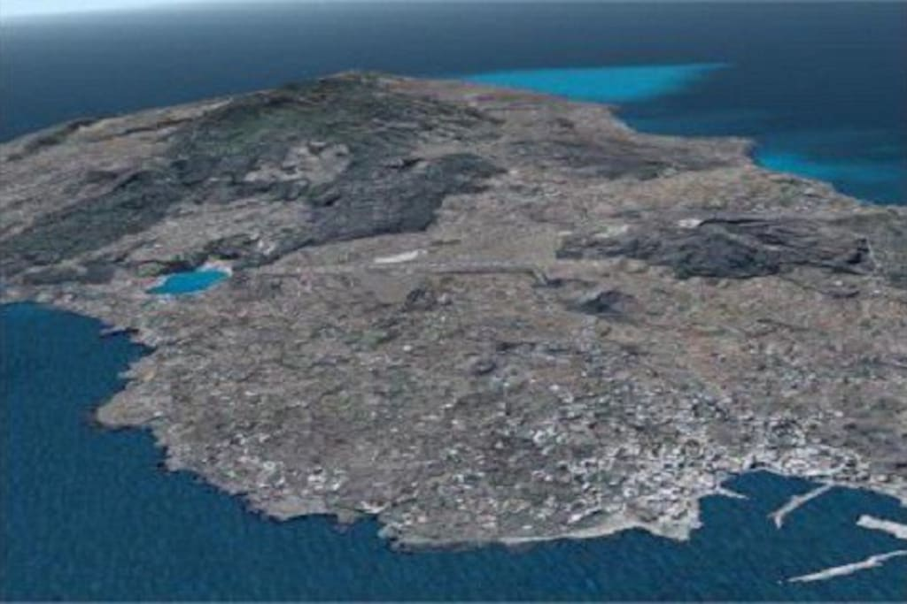 PANTELLERIA ISLAND as seen from the sky