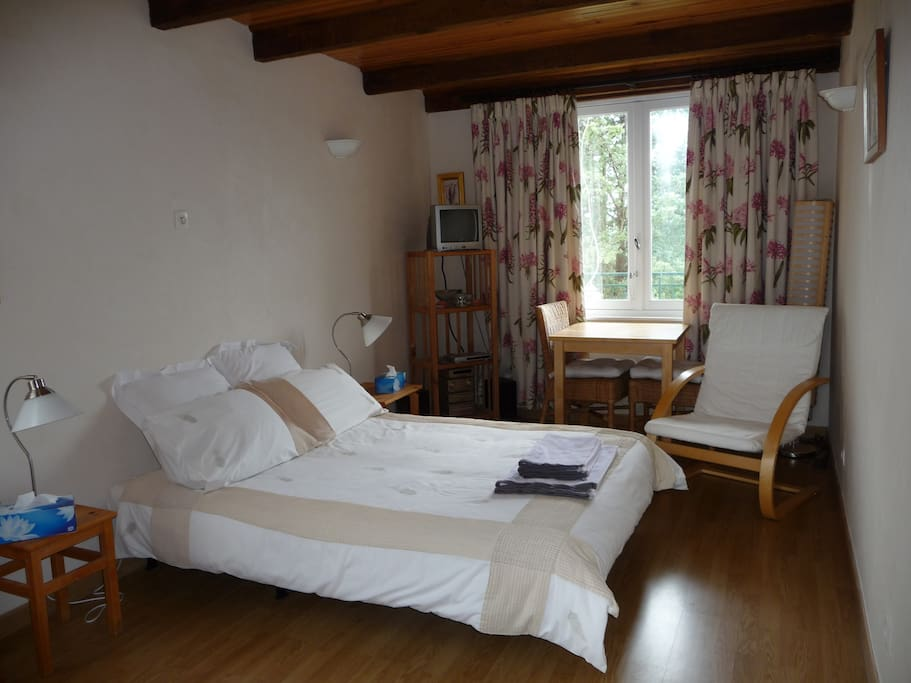 Self contained studio with shower room and kitchen