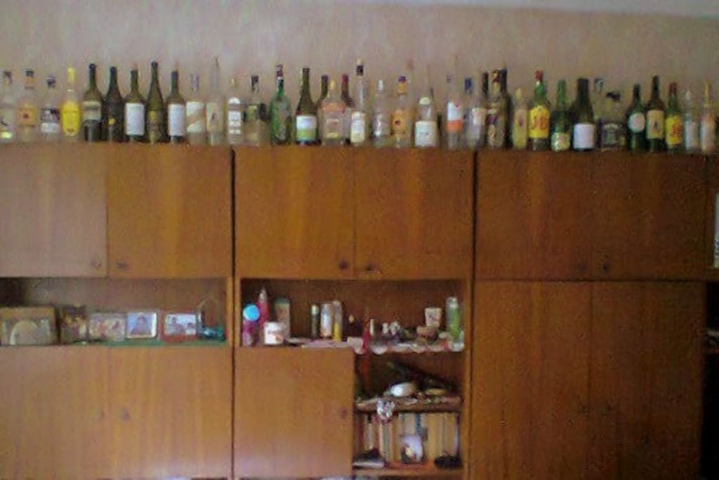 My collection with empty bottles :)
