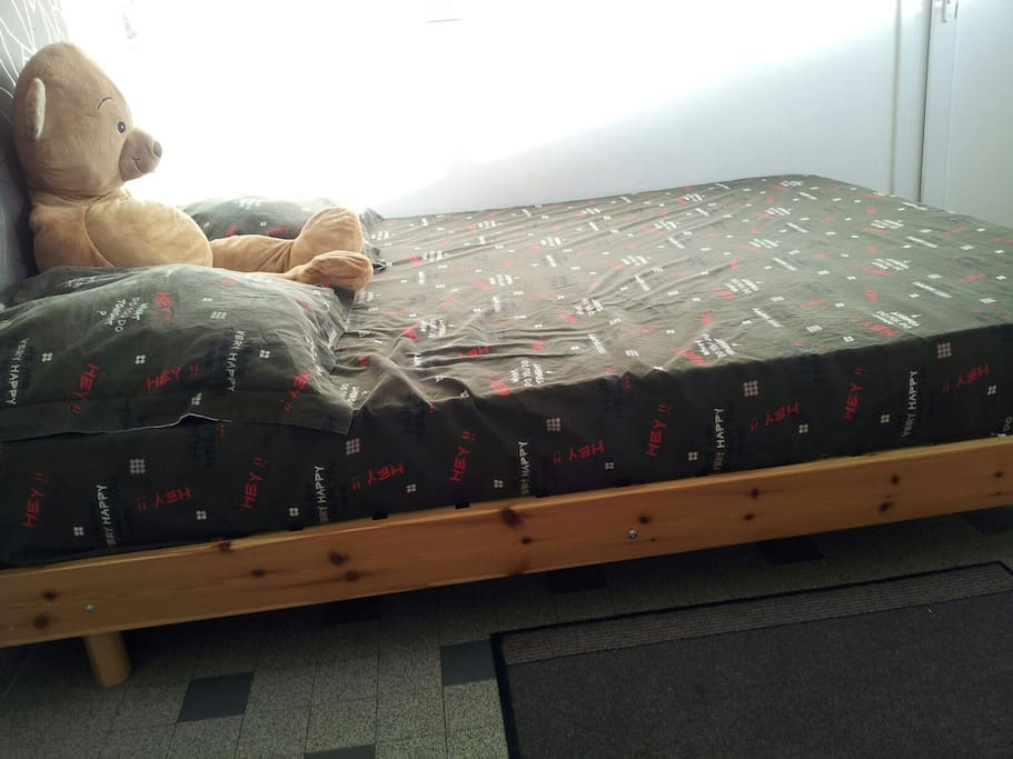 Real Big Bed for a Couple - Side View