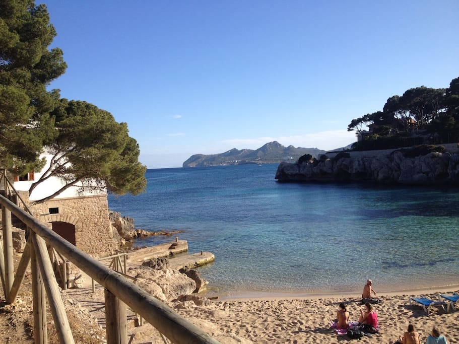 Cala Gat beach, afternoon picture.