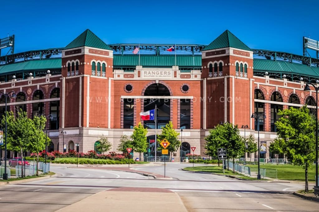 Texas Ranger Stadium and entertainment district very near to our home.