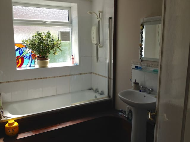 Clean and light bathroom