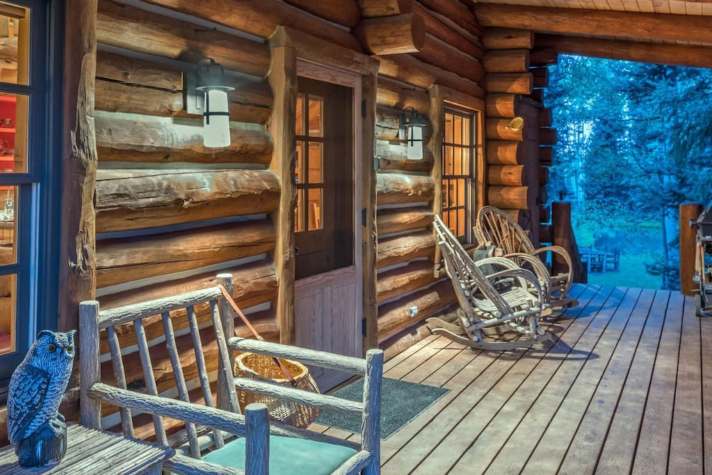 Telluride-YellowBrickCabin- Porch with Chairs