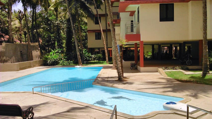 2-bed apartment + pool :near Mapusa - Mapusa, Bardez - Byt