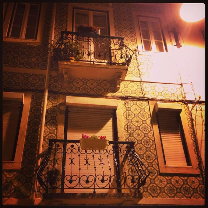 typical lisbon Balcony