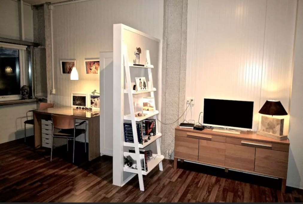 Get comfortable in front of the TV after a long day of exploring. Golden circle studio apartment located 45 minutes outside Reykjavik, Iceland