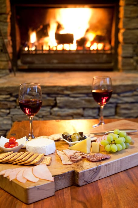 Enjoy a glass of wine or roast marshmallows in front of the roaring open fire