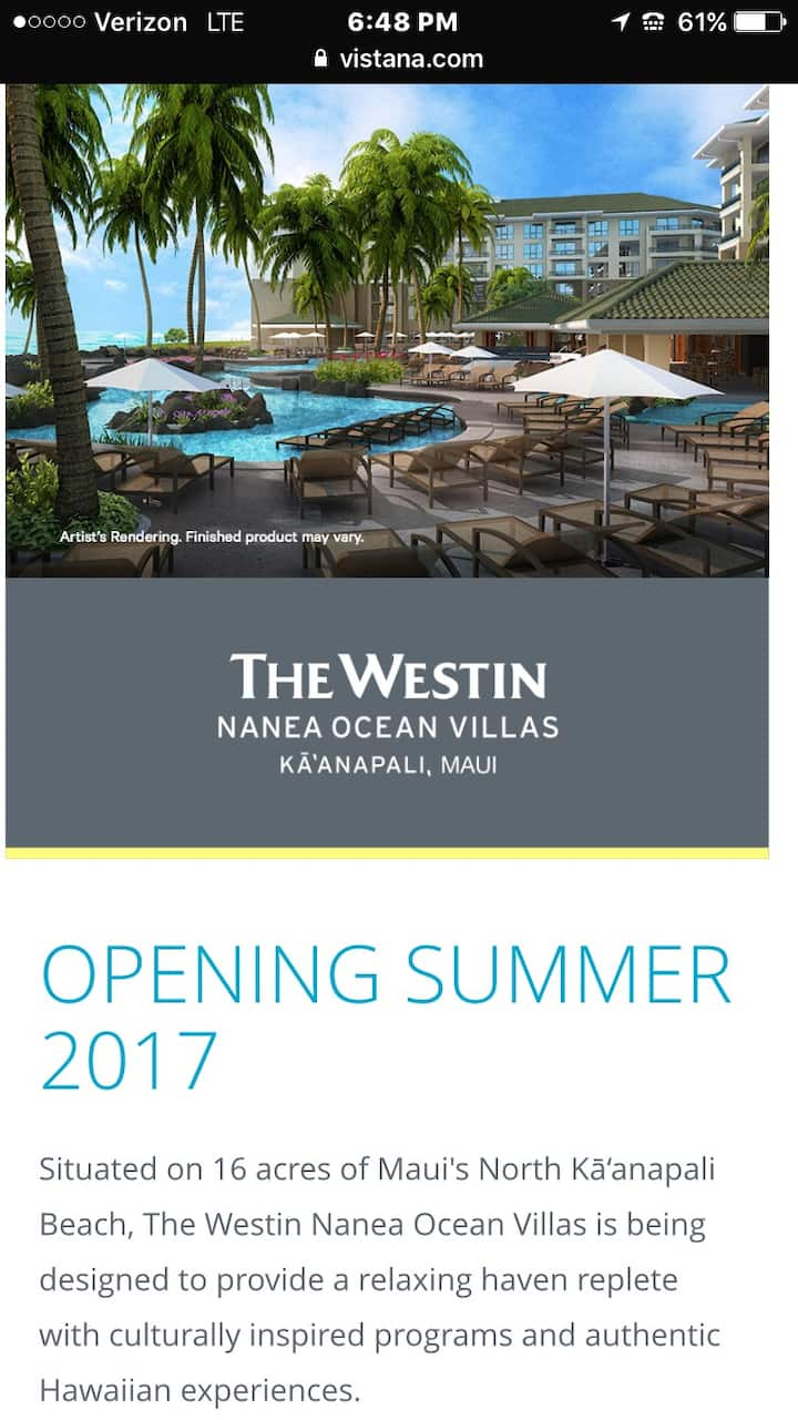 NEW Westin Nanae Jan31-Feb7 OR Feb 7-14 Ocean View
