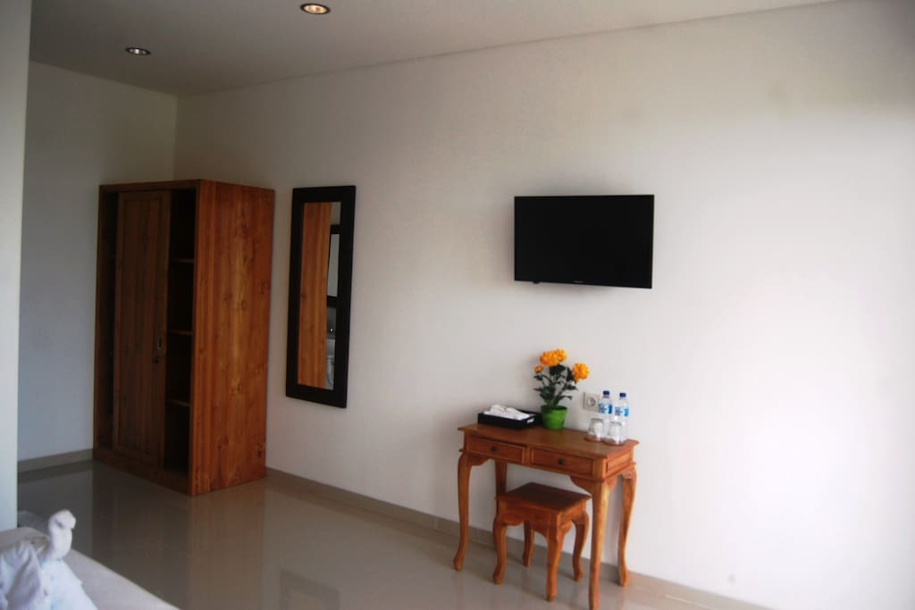 View of room  Desk & Cup board