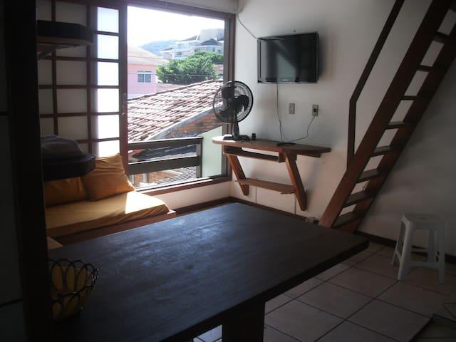 Apartamento con terraco  3 pessoas