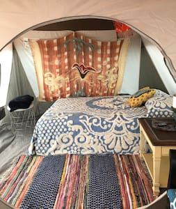 Private Glamping site minutes from the beach!