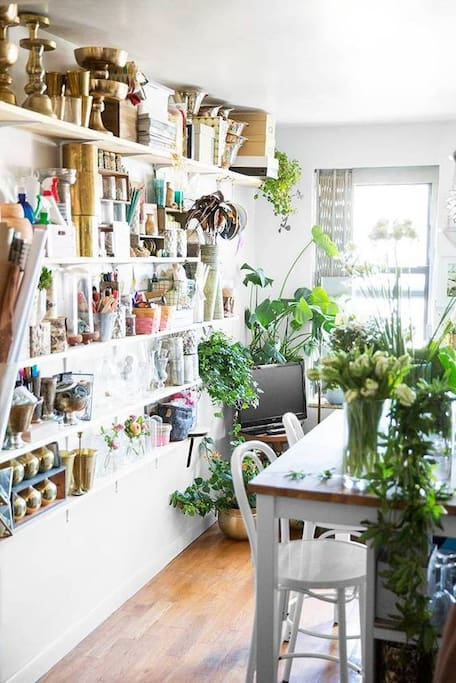 I'm a florist, so you'll be sharing with my vases & plants!