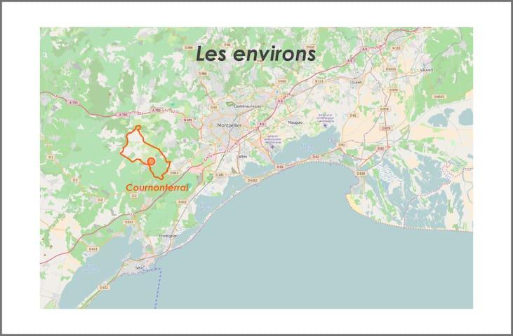 Studio à 15 minutes plages et Montpellier - Cournonterral - Apartment
