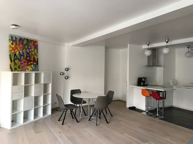 Modern/New apartment in Center with all comforts.