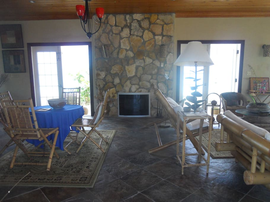 enjoy the fireplace after a swim in the ocean